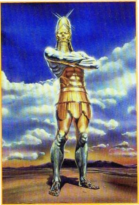 Depiction of the great statue Nebuchadnezzar saw in his dream.
