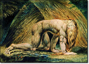 A painting of a shaggy Nebuchadnezzar when he was a beast.