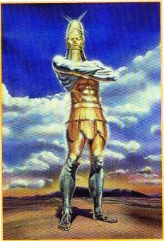 A picture of the multi-metaled statue that Nebuchadnezzar saw in his dream.